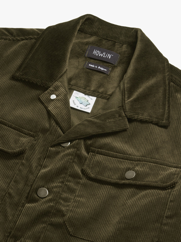 Magic Work Shirt  - Olive UK Corduroy