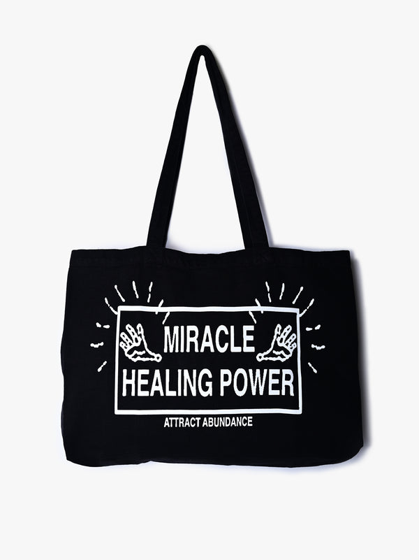 Miracle Healing Power Canvas Totebag - Black