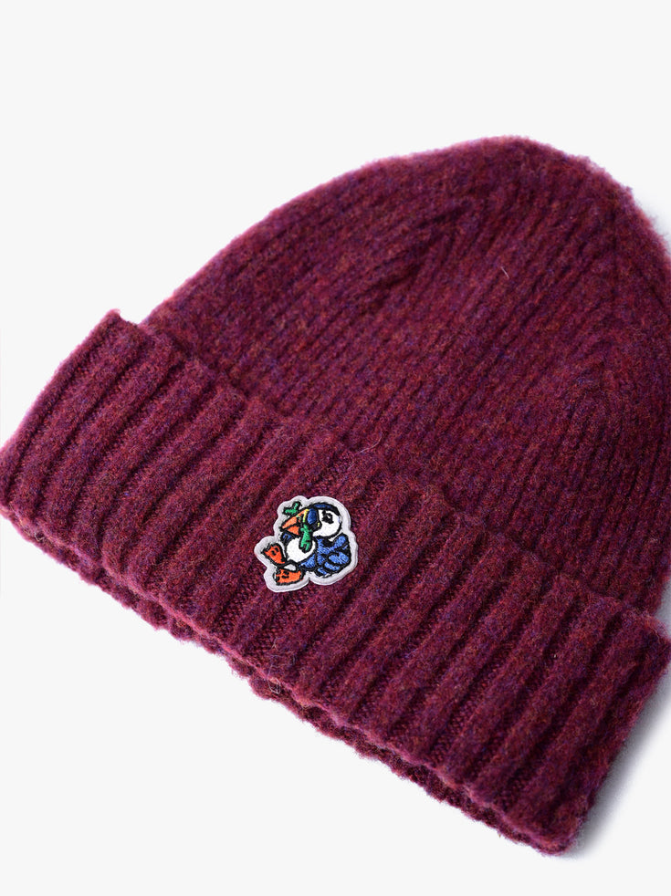 Mr Puffin Hat - Bordeaux *Limited