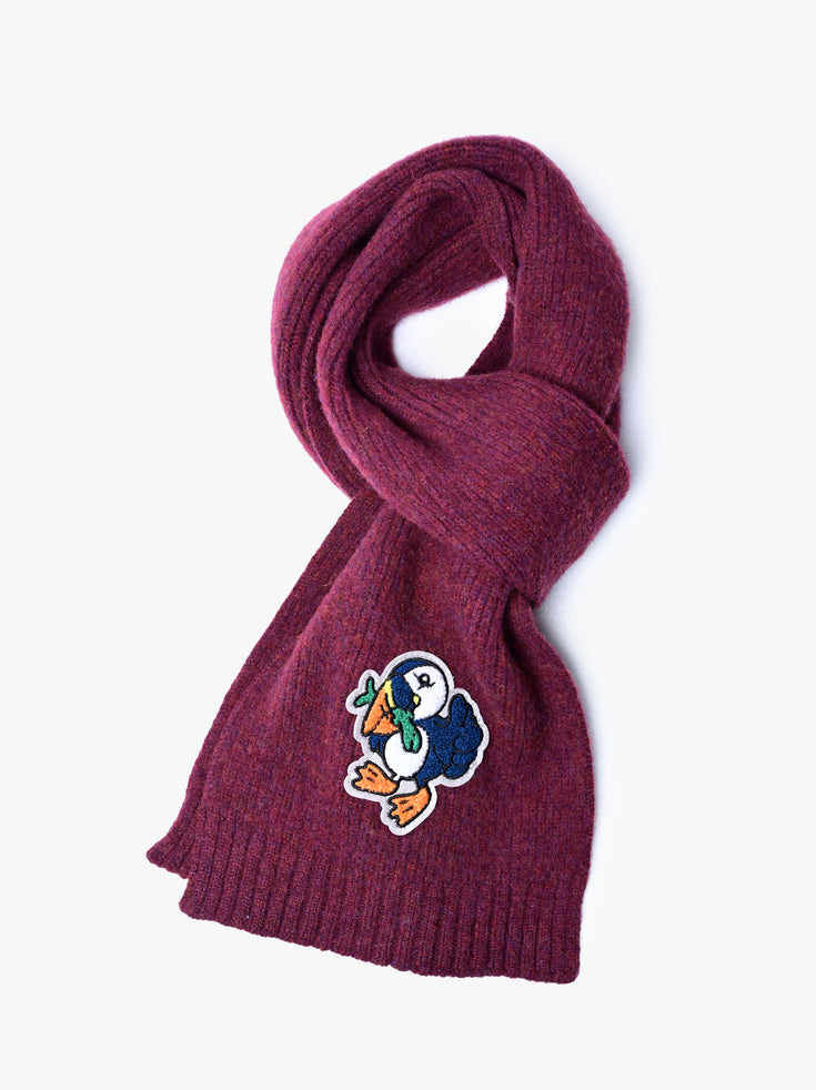 Mr Puffin Scarf - Bordeaux *Limited