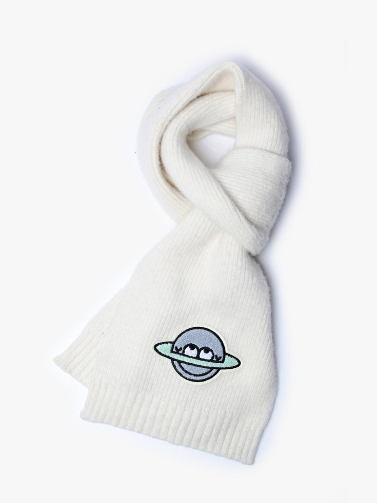 Planet Cool Scarf  - Ecru *Limited