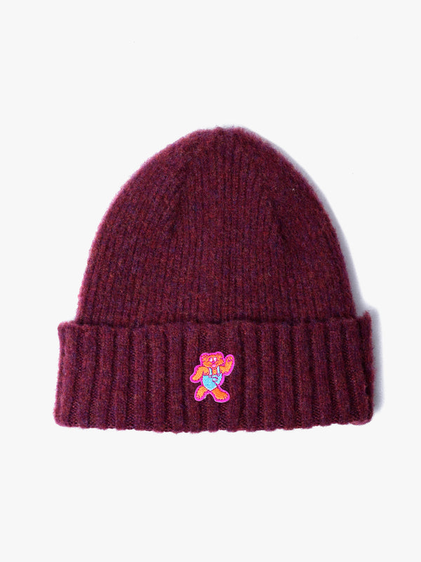 Shaggy Bear Hat - Bordeaux *Limited