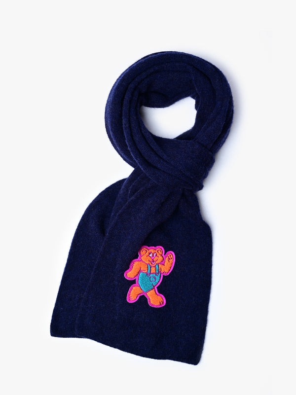Shaggy Bear Scarf - Navy *Limited