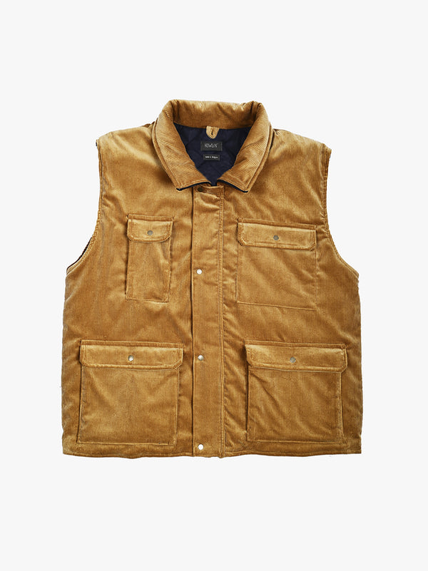 Strong Look Vest  - Beige UK Corduroy