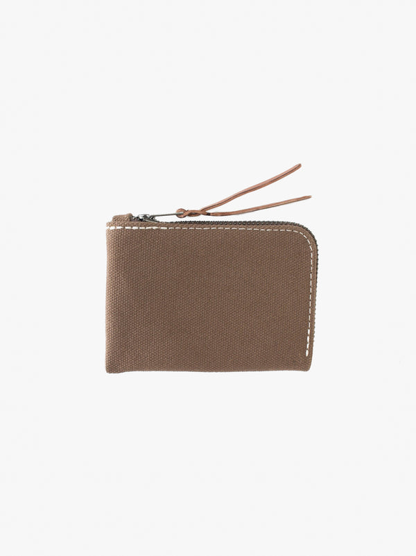 Canvas Zip Slim Wallet Tobacco