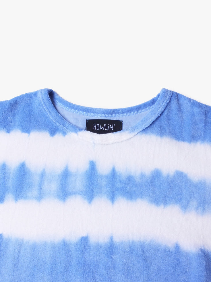Hard Boiled Babe Hand Dyed Stripes - Light Blue (Women's)