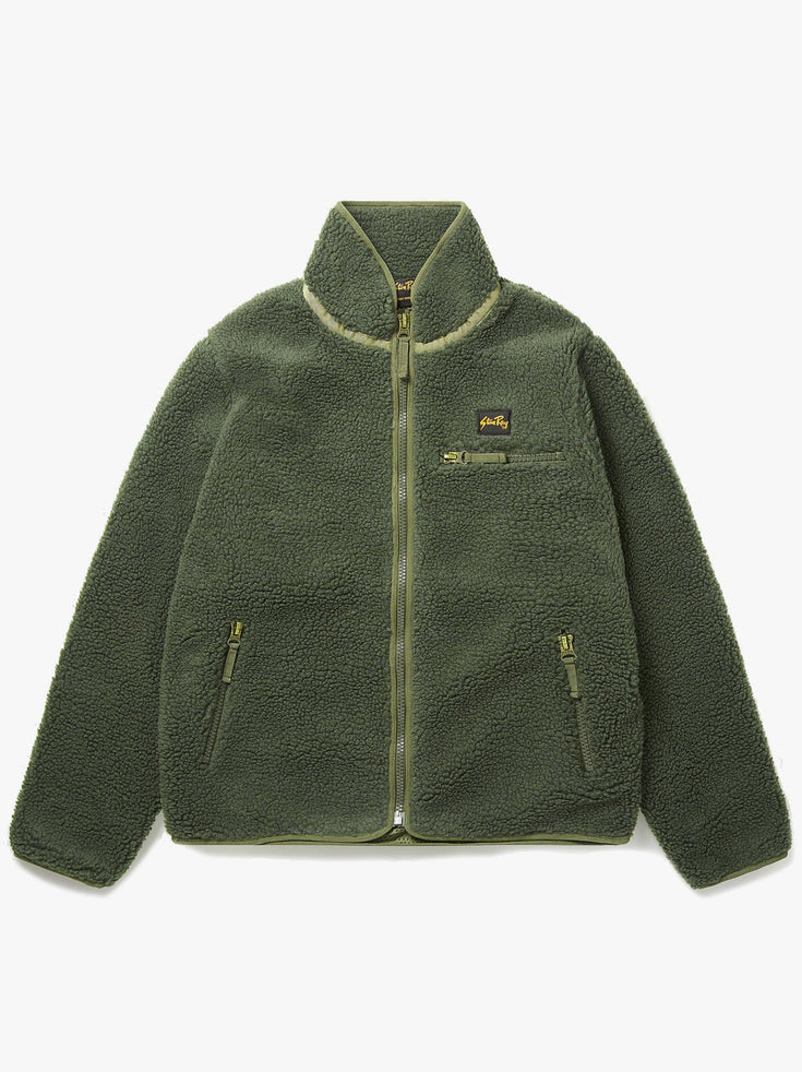 High Pile Fleece - Olive Boa