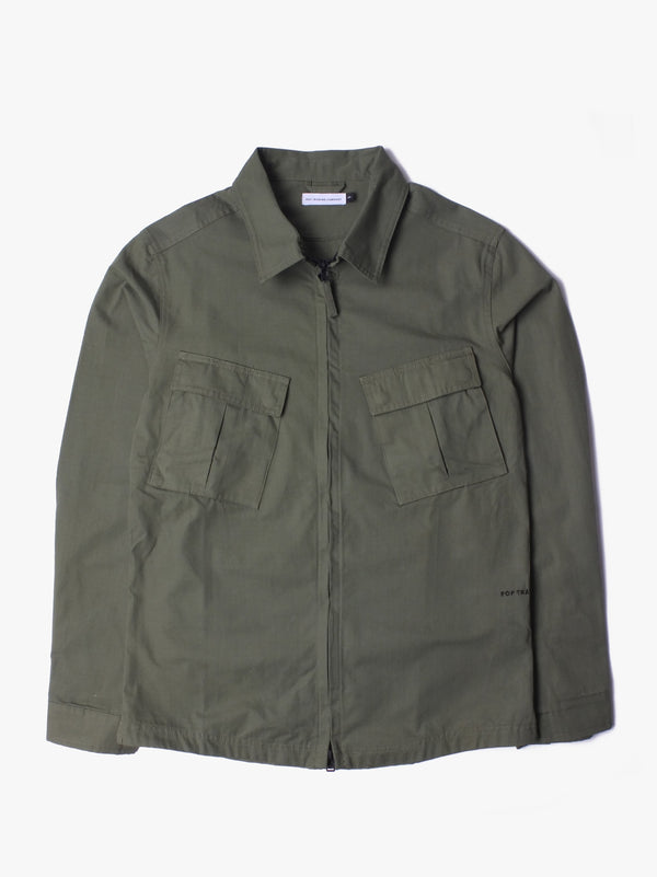 Falling Down Overshirt - Olive