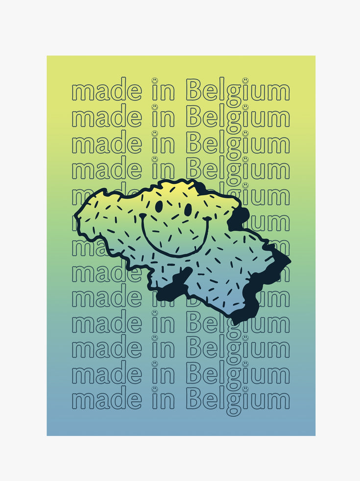 Poster A1 - Made in Belgium