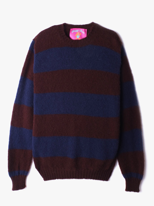 Shaggy Bear Chunky Stripes - Coffee