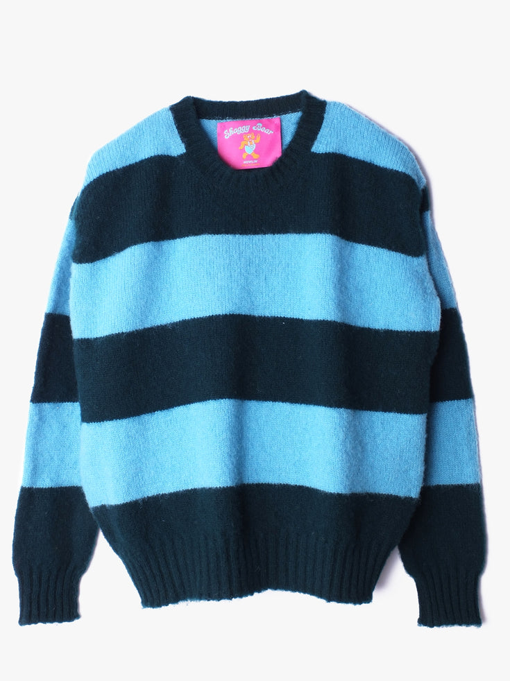 Shaggy Bear Chunky Stripes - Space (Women)