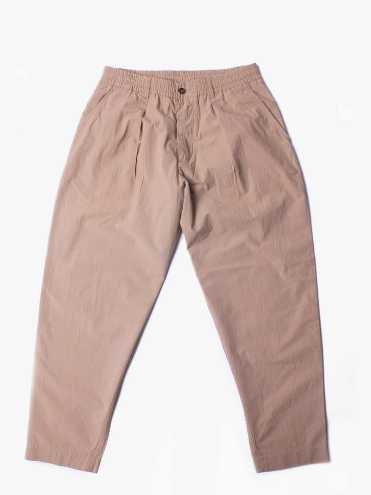 Pleated Track Pants - Sand