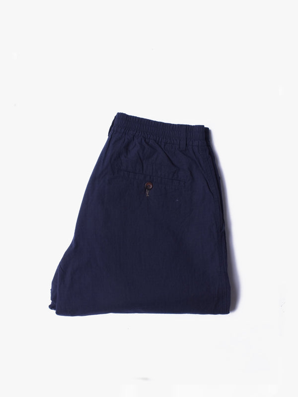 Pleated Track Pants - Navy