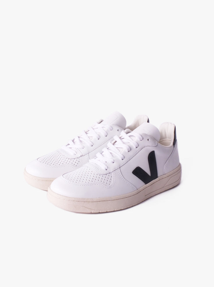 V10 Leather - Extra White Black