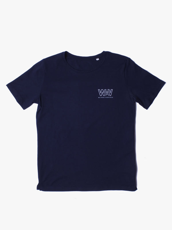 WAV Logo T-shirt - Navy (Women) ** Limited Edition