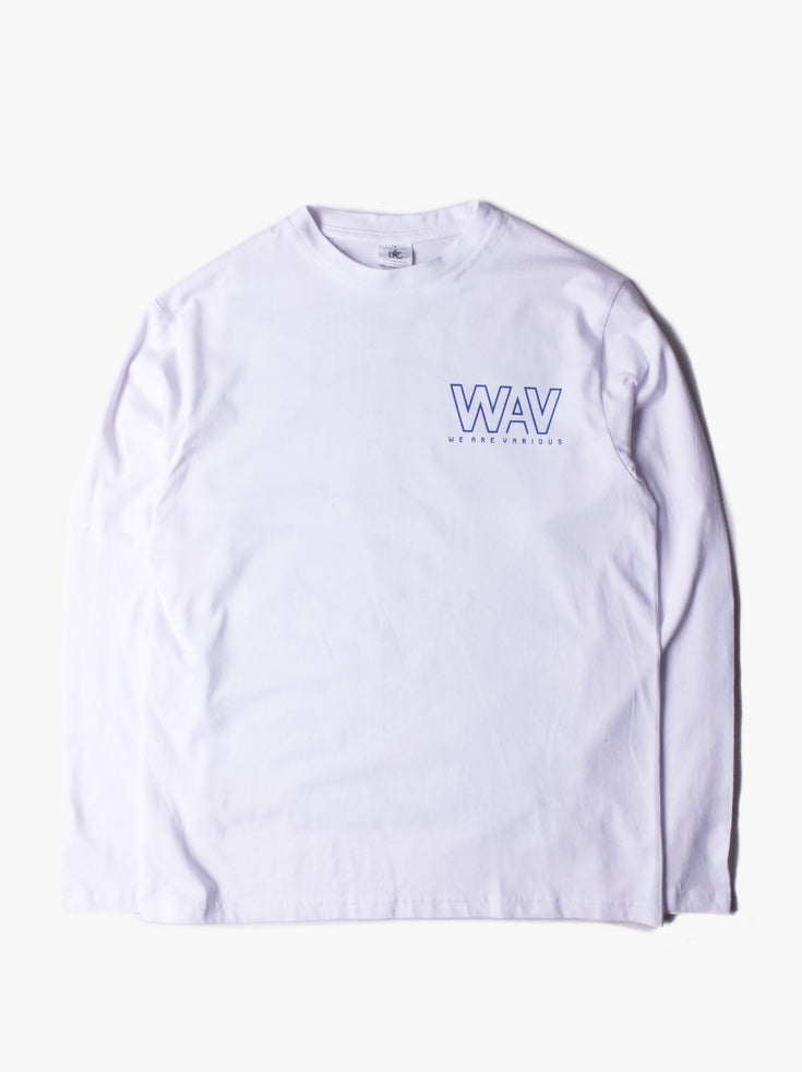 WAV Logo T-shirt LS - White ** Limited Edition