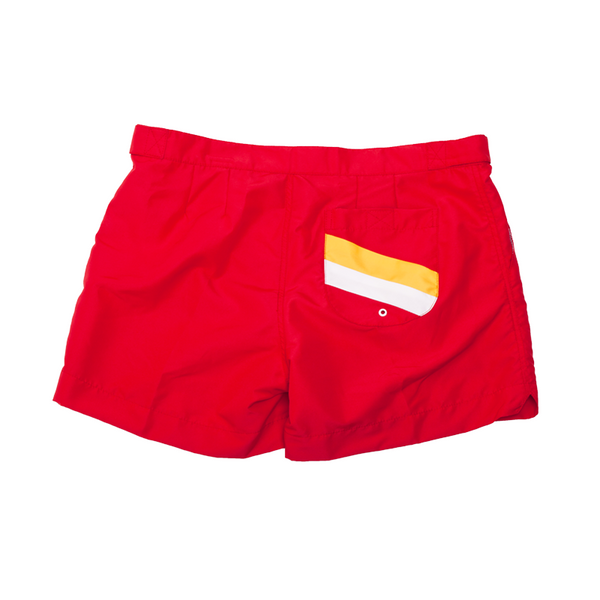 Benson Classic Red Pocket Men's Swim Trunks