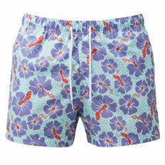 Franks Hibiscus Tropical Cheetah Men's Swim Trunks