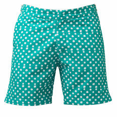 Franks Polka Dot Men's Swim Trunks - Green