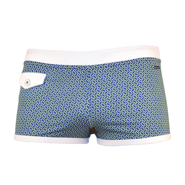 Parke & Ronen Ibiza Royal Citron Pocket Square-Cut Swim Brief