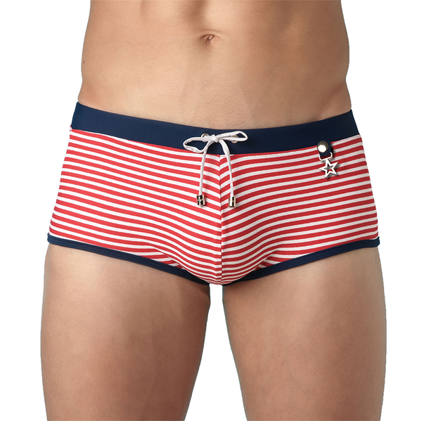 JOR Men's Swim Brief - Sailor Red and White