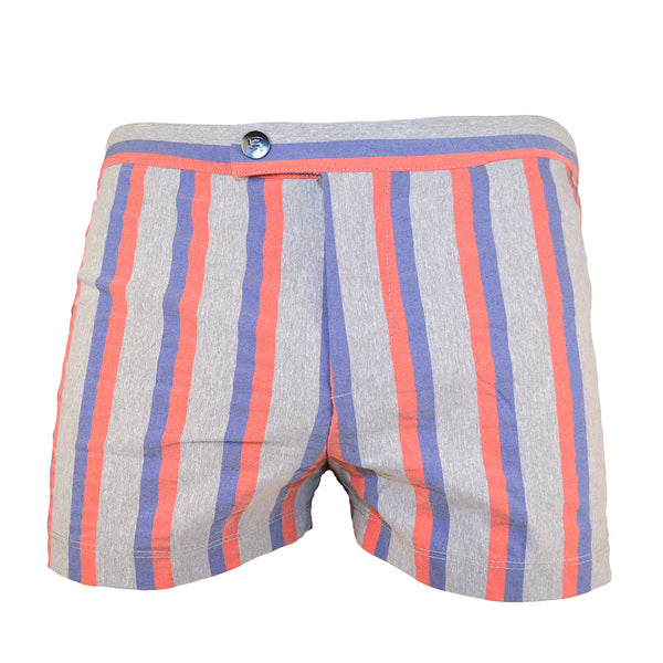 Parke & Ronen Mangibello Stripped Lancaster Yarn Retro Swim Trunk