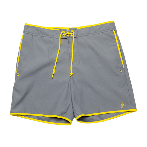 Original Penguin Fixed Volley Earl Men's Swim Trunks - Monument Gray