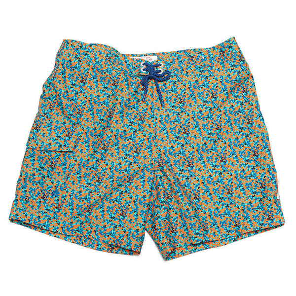 Original Penguin Geo Camo Volley Swim Shorts