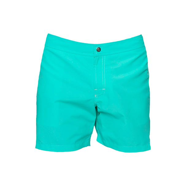 Parke and Ronen Colorblock Cove Aqua Swim Trunk