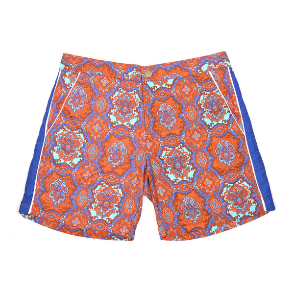 T. Christopher Blue Kaleidoscope Manhattan Swim Trunk