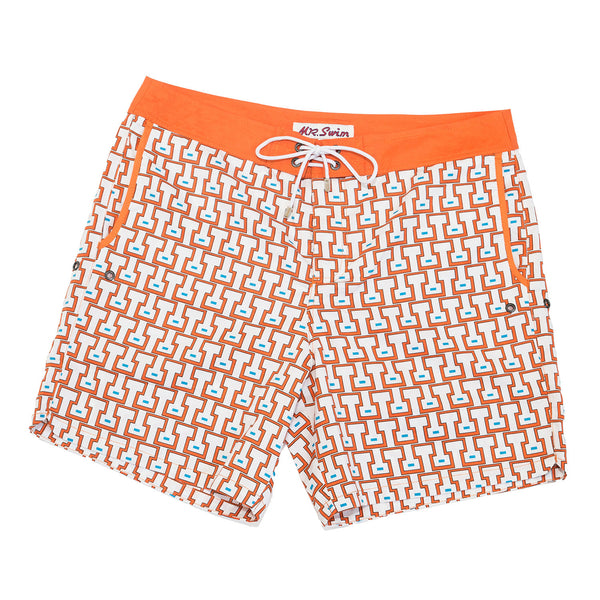 Mr. Swim Temple Orange Swim Trunk