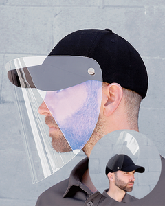 Cap with Integrated Flip Up  Face Shield