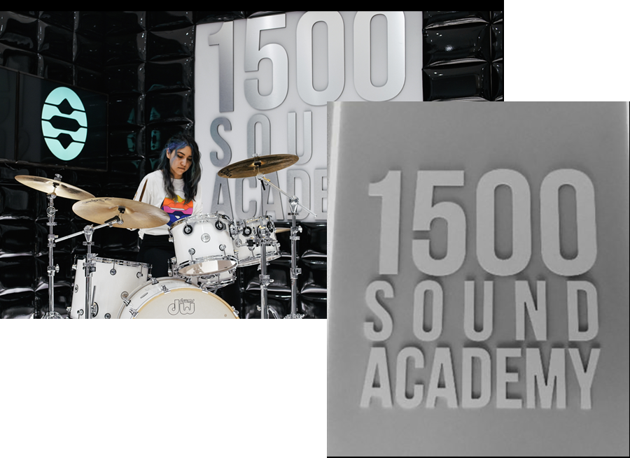 A girl learning Music at 1500 Sound Academy