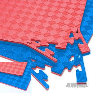 "Proforce reversible 2 color 7/8"" thick puzzle mat."