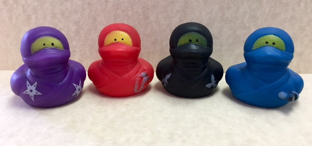 New!! Ninja rubber Duckies- set of 4