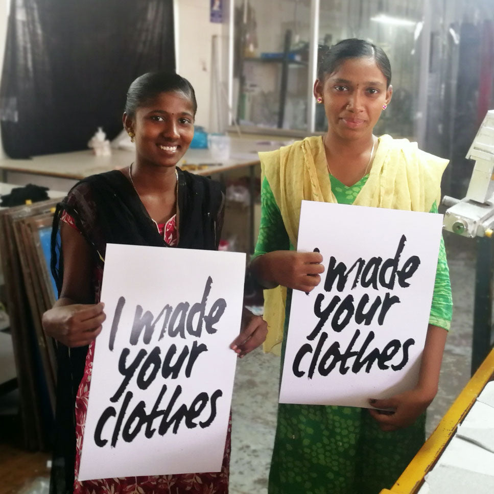 Two women who make DUNS sustainable kids clothing
