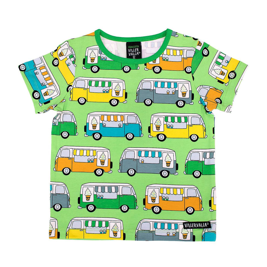 Ice Cream truck Short Sleeve Shirt Pea