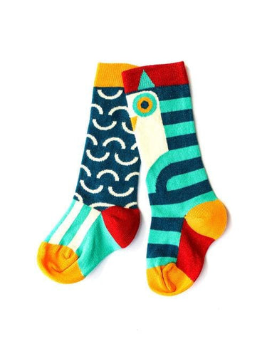 Merle kids owl knee sock