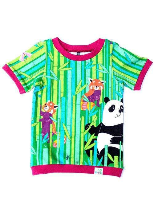 Merle kids panda forest t-shirt