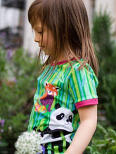 Load image into Gallery viewer, Merle kids panda forest kids t-shirt