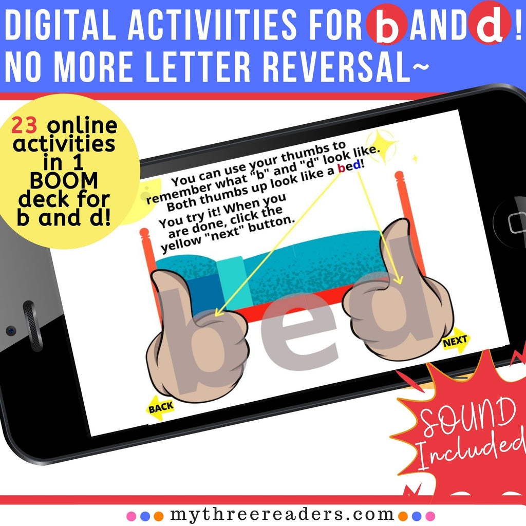 Letters b and d practice (letter reversal) - 23-in-1 d and b Digital Activities!