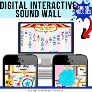 Virtual, Interactive Sound Wall Word Wall - Distance Learning Ready!