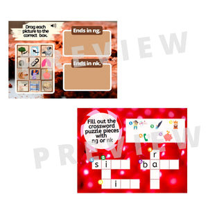 Holiday Candy 5 -NG and -NK Word Sort BOOM Games