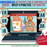 Gingerbread Cookies - Practicing R Controlled Words - Bossy R Practice
