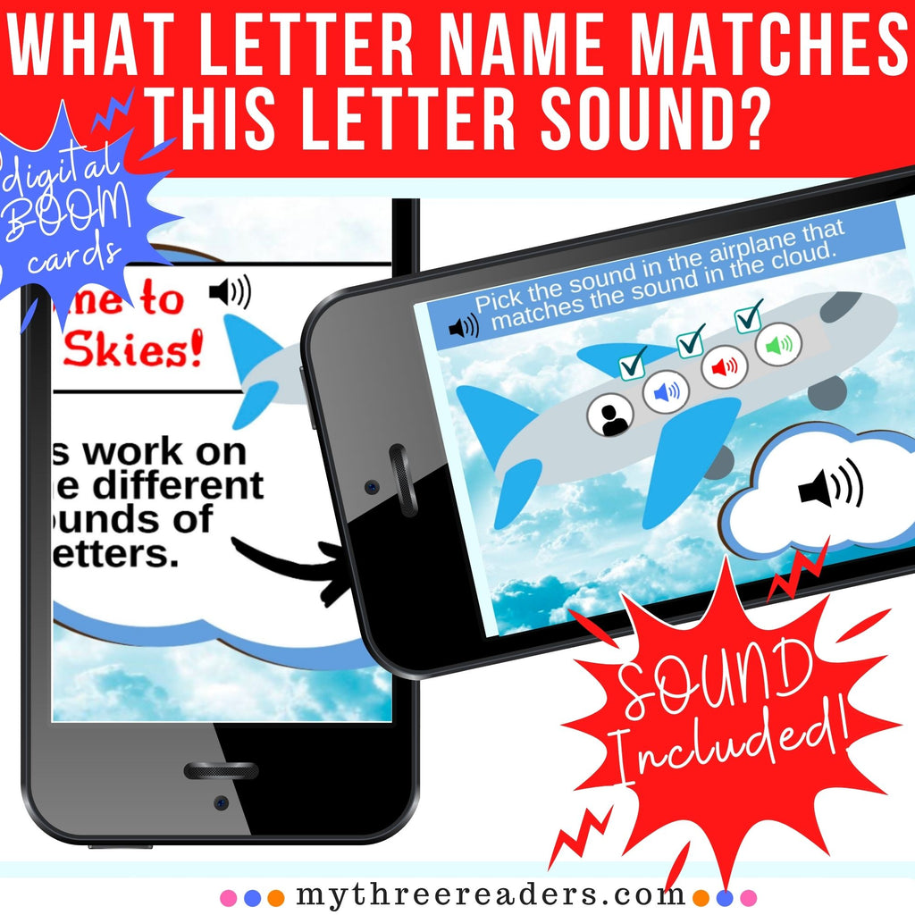 Match the Letter's SOUND to the Letter's NAME SOUND - Distance Learning!