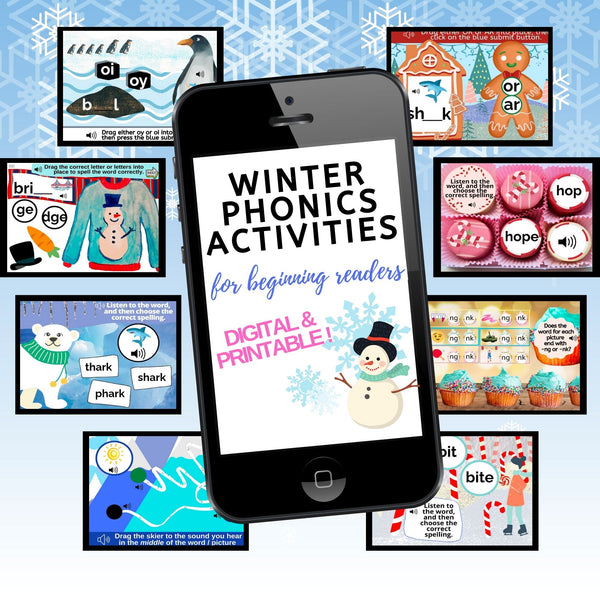 *Winter Alphabet/Phonics Boom Activity Bundle