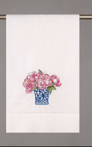 Peony Guest Towel - Tall
