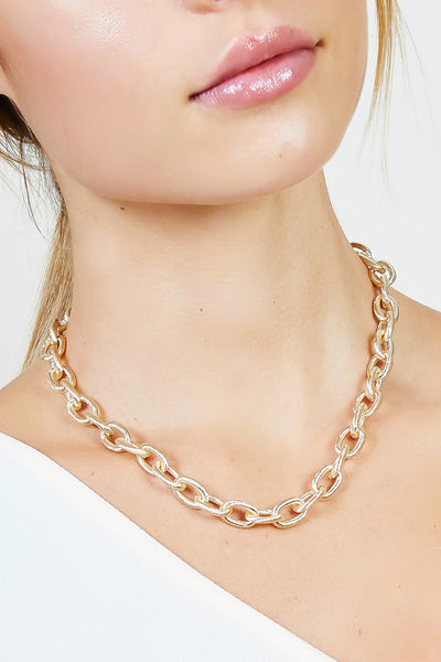 Textured Chain Choker