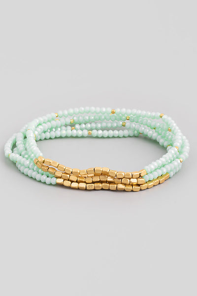 Kaela Beaded Stretch - Mint