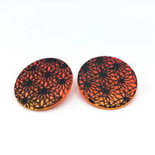 Load image into Gallery viewer, Rising Sun - Botanical Print- Big Circle Studs #2